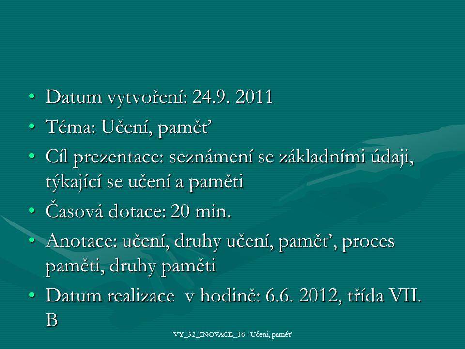 Datum vytvoření: 24.9. 2011Datum vytvoření: 24.9.