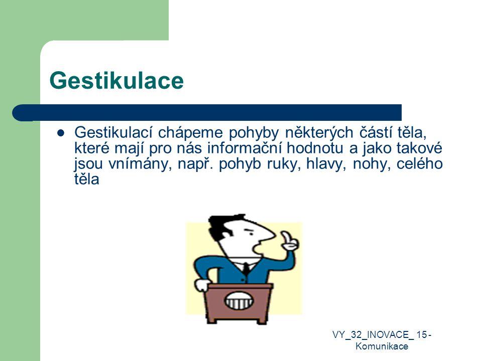 Verbální komunikace Slovní komunikace, komunikace slovem či písmem VY_32_INOVACE_ 15 - Komunikace