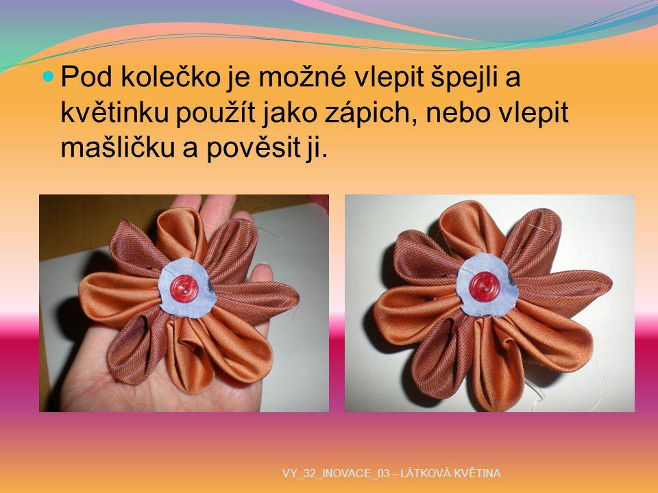 Pod kolečko je možné vlepit špejli a květinku použít jako zápich, nebo vlepit mašličku a pověsit ji.