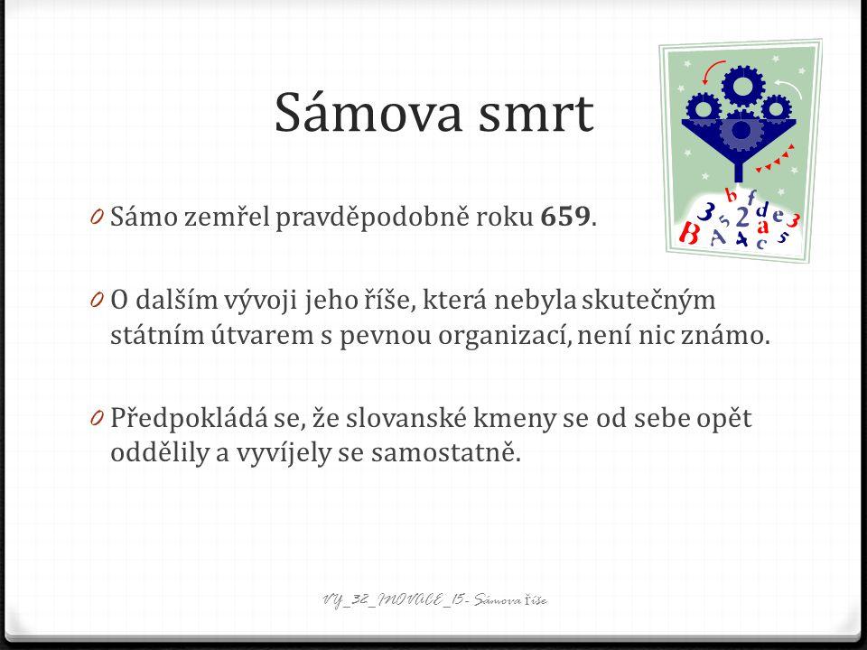Sámova smrt 0 Sámo zemřel pravděpodobně roku 659.