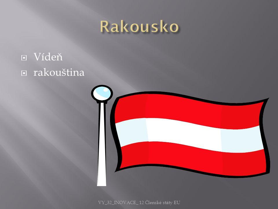  Vídeň  rakouština VY_32_INOVACE_ 12 Členské státy EU