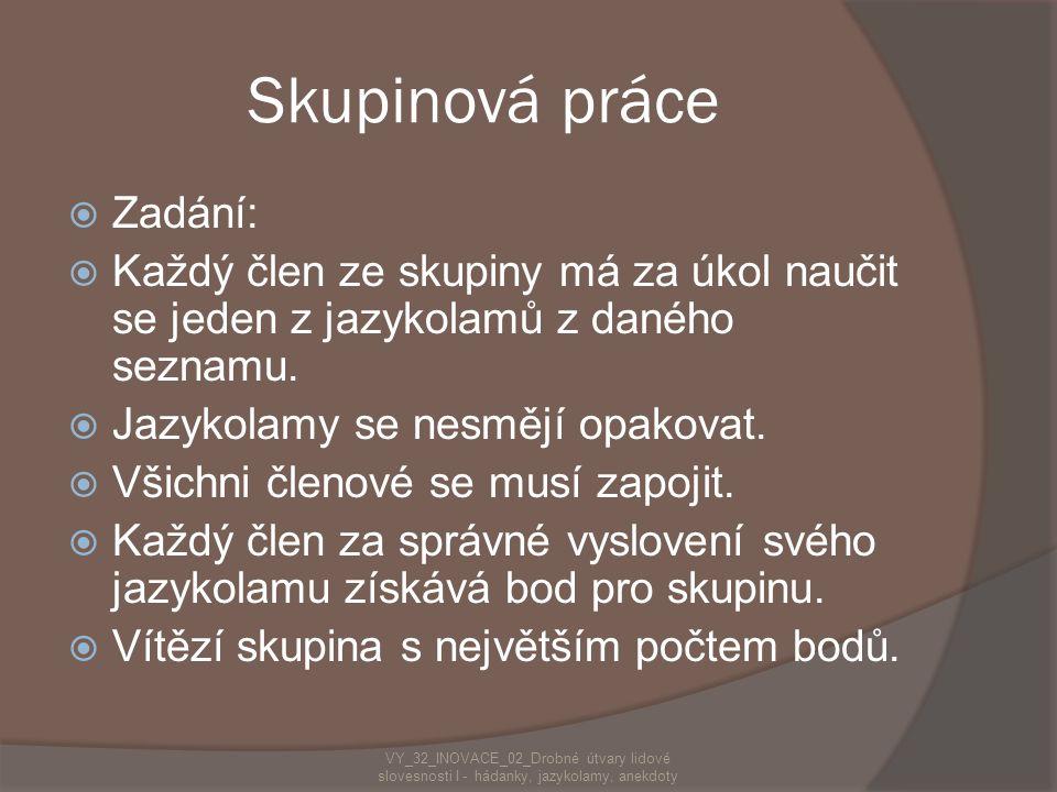 Víte, které slovo je údajně v češtině nejdelší?  Nejneobhospodařovávatelnější  Z kolika hlásek se skládá?  Z 28 hlásek  Vymyslíš podobná slova? 