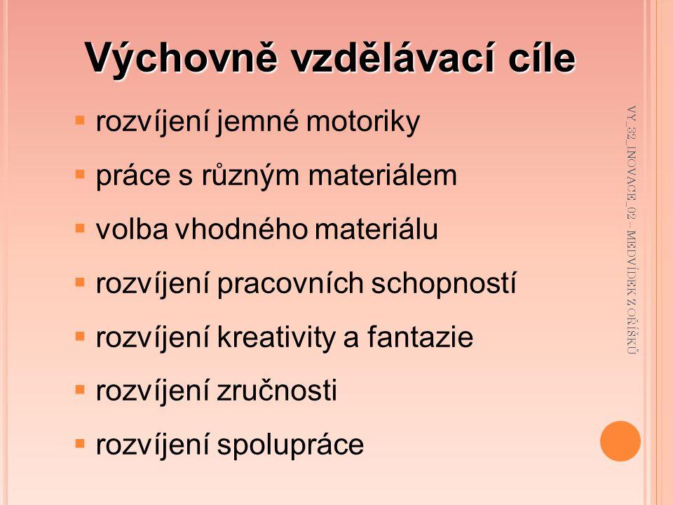Použité zdroje: Veškeré použité materiály byly z vlastních zdrojů VY_32_INOVACE_02 – MEDVÍDEK Z OŘÍŠKŮ
