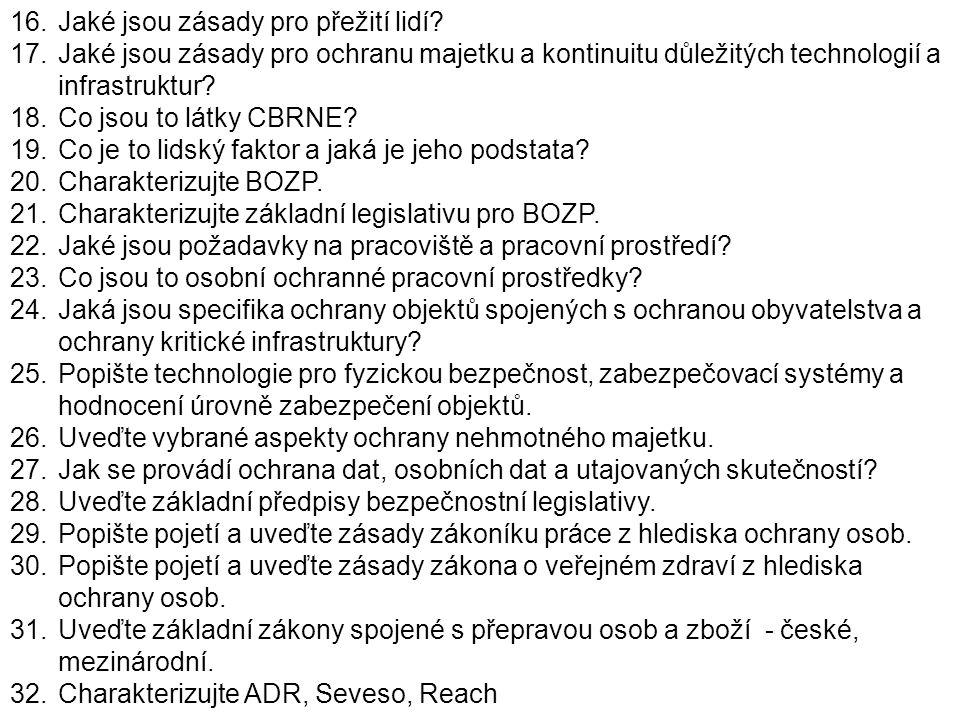 Soubor poznatků pro ochranu osob a majetku D.