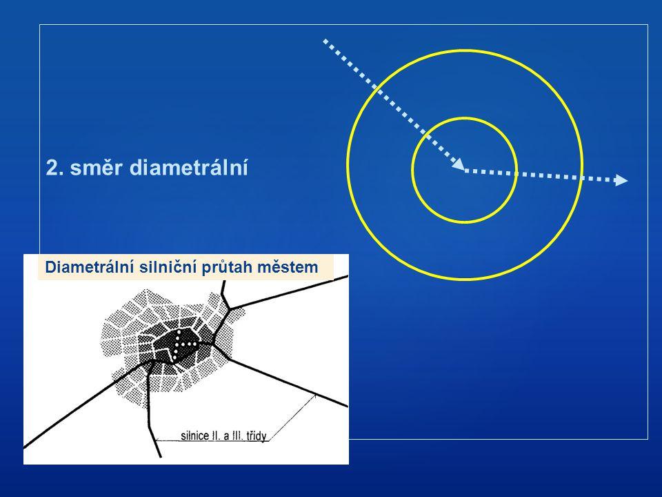 2. směr diametrální Diametrální silniční průtah městem