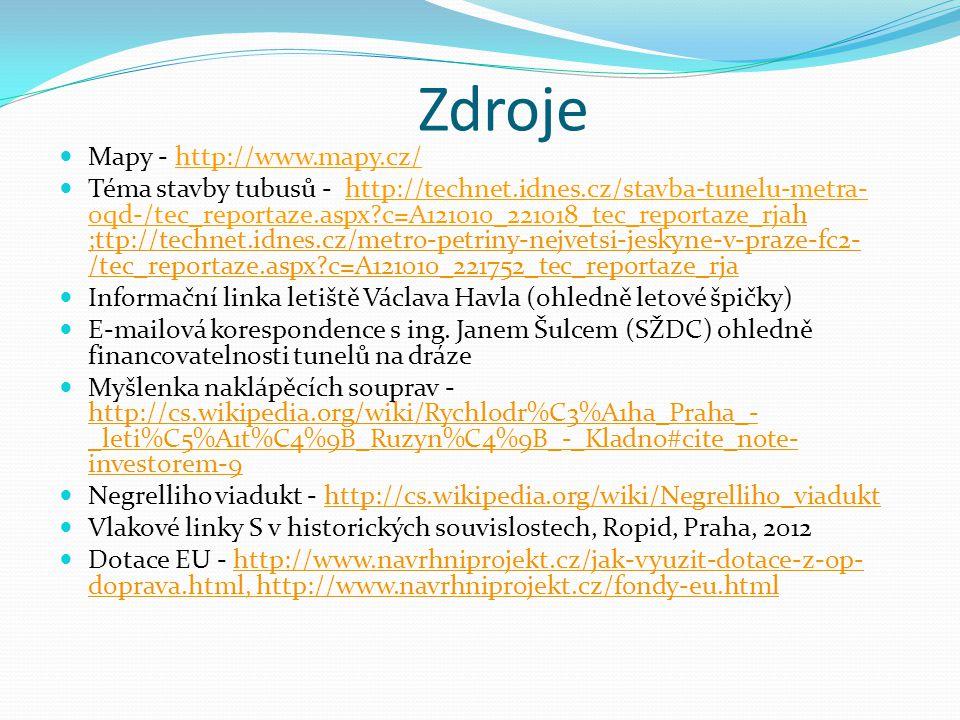 Zdroje Mapy - http://www.mapy.cz/ Téma stavby tubusů - http://technet.idnes.cz/stavba-tunelu-metra- 0qd-/tec_reportaze.aspx?c=A121010_221018_tec_repor