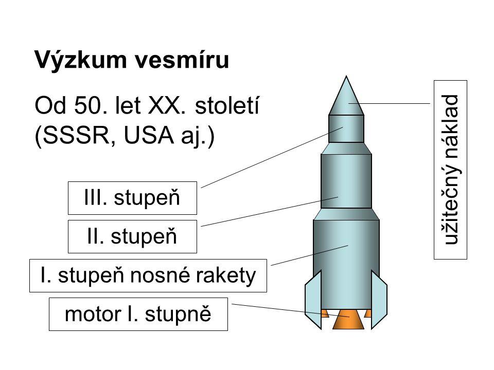 Výzkum vesmíru Od 50.let XX. století (SSSR, USA aj.) II.