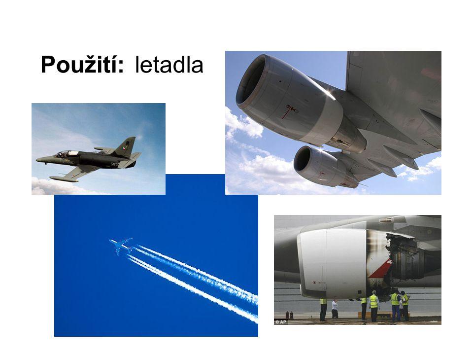 Použití:letadla