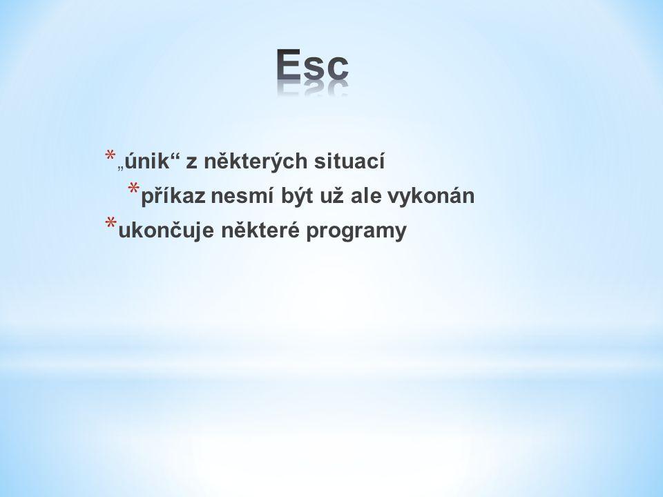 """* """" únik"""" z některých situací * příkaz nesmí být už ale vykonán * ukončuje některé programy"""