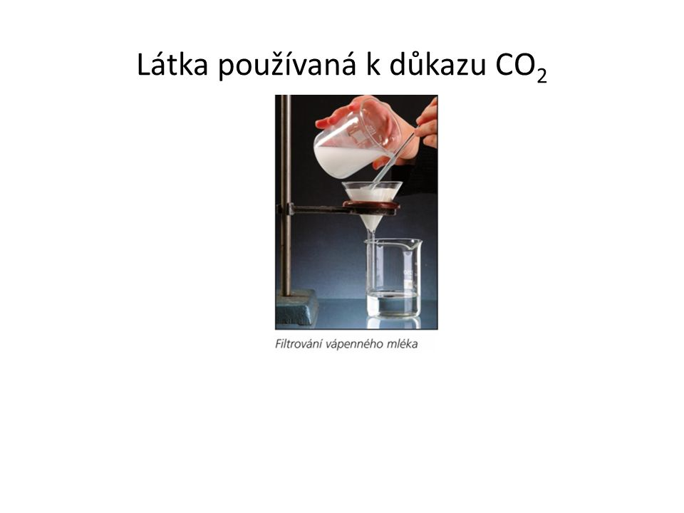 Látka používaná k důkazu CO 2