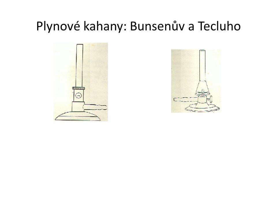 Plynové kahany: Bunsenův a Tecluho