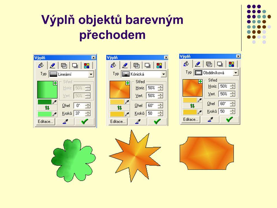 Výplň objektů barevným přechodem