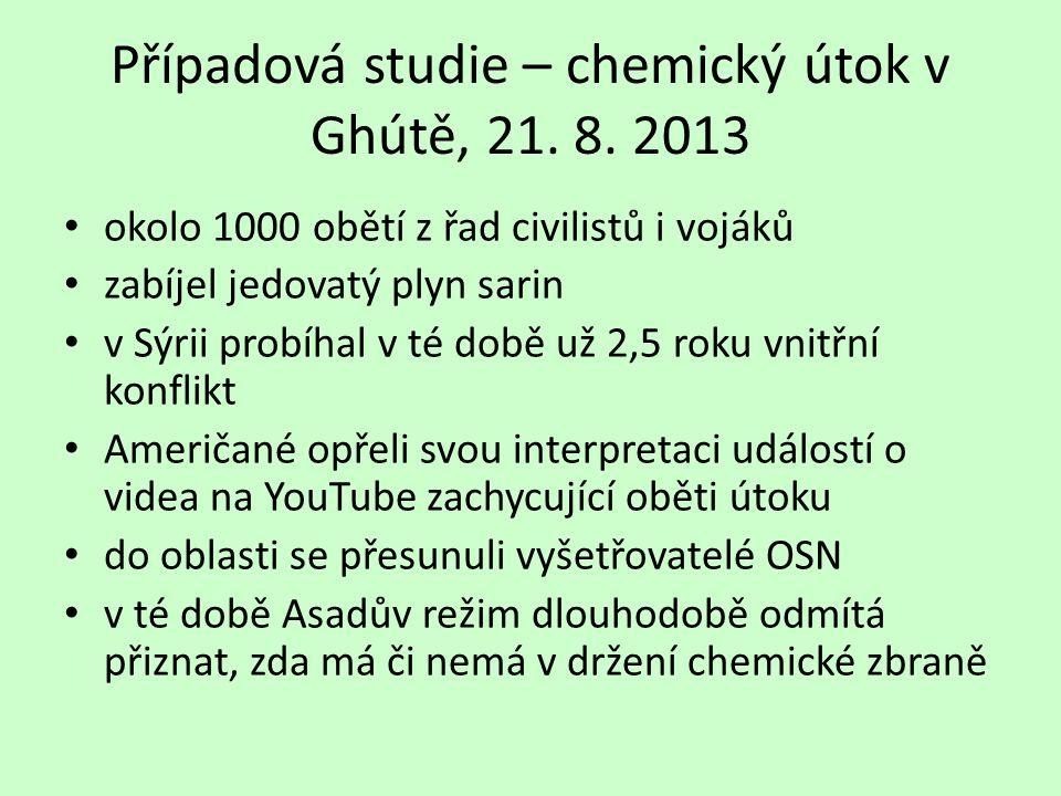 Případová studie – chemický útok v Ghútě, 21. 8.