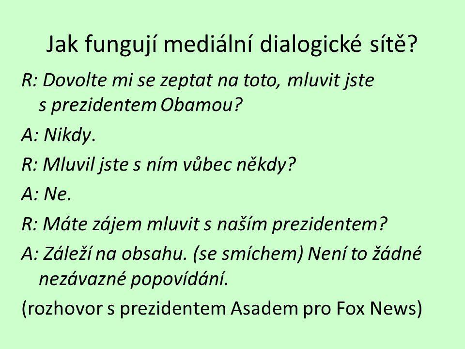 Jak fungují mediální dialogické sítě.