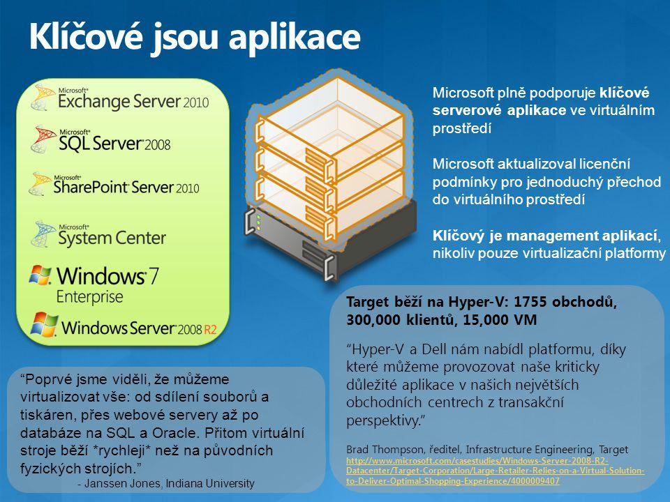 """Target běží na Hyper-V: 1755 obchodů, 300,000 klientů, 15,000 VM """"Hyper-V a Dell nám nabídl platformu, díky které můžeme provozovat naše kriticky důle"""