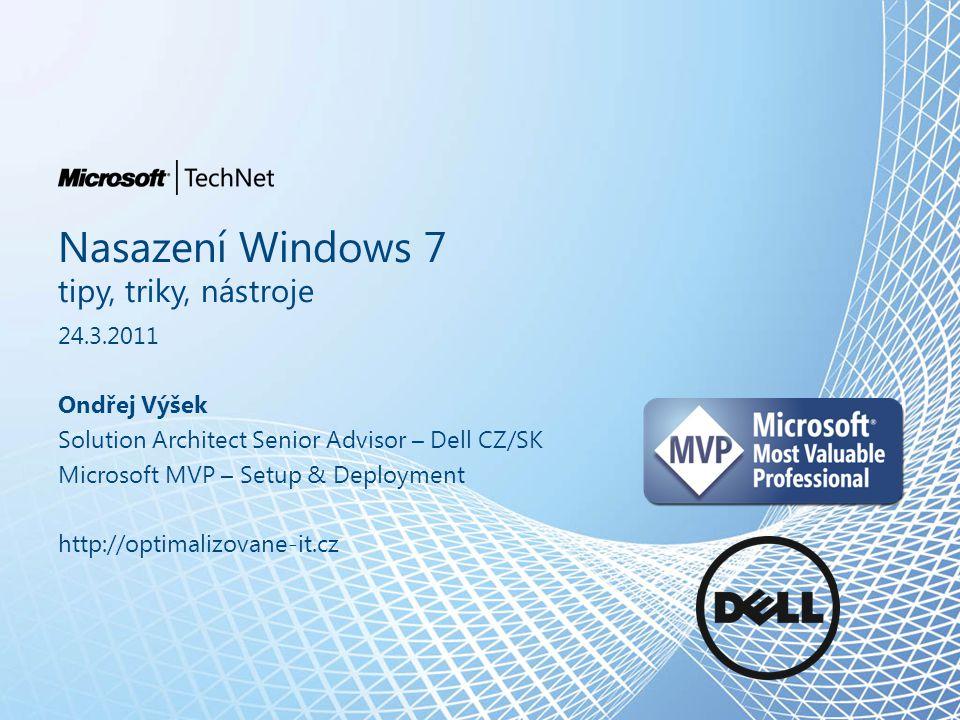 Nástroj 6 – Windows Deployment Services Součástí Windows Server 2003 R2 a vyšší – Využívá PXE boot – Může obsahovat boot a install image – Možnost Driver Scoping – Při automatizaci využívaný jako boot trasport – Podpora MultiCast DHCP AD WDS 1 1 2 2 3 3 4 4 5 5