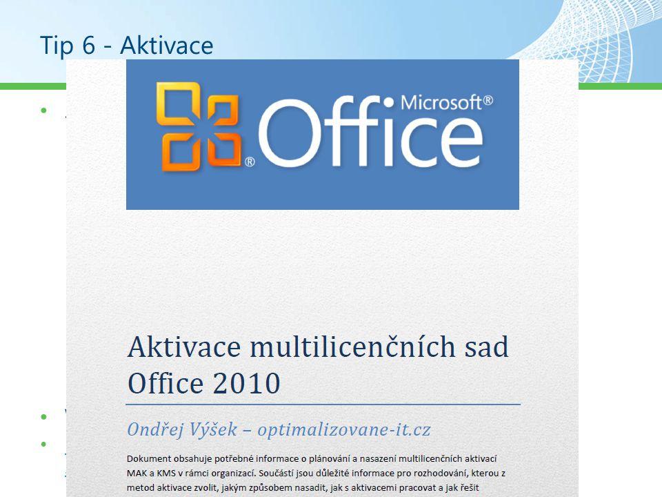 Nástroj 1 – Volume Activation Management Tool Centrální správa aktivací Windows / Office Vzdálená aktivace počítačů Správa databáze klíčů Vyžaduje povolené RPC porty http://www.microsoft.com/downloads/en/details.aspx?Fa milyID=ec7156d2-2864-49ee-bfcb-777b898ad582 http://www.microsoft.com/downloads/en/details.aspx?Fa milyID=ec7156d2-2864-49ee-bfcb-777b898ad582
