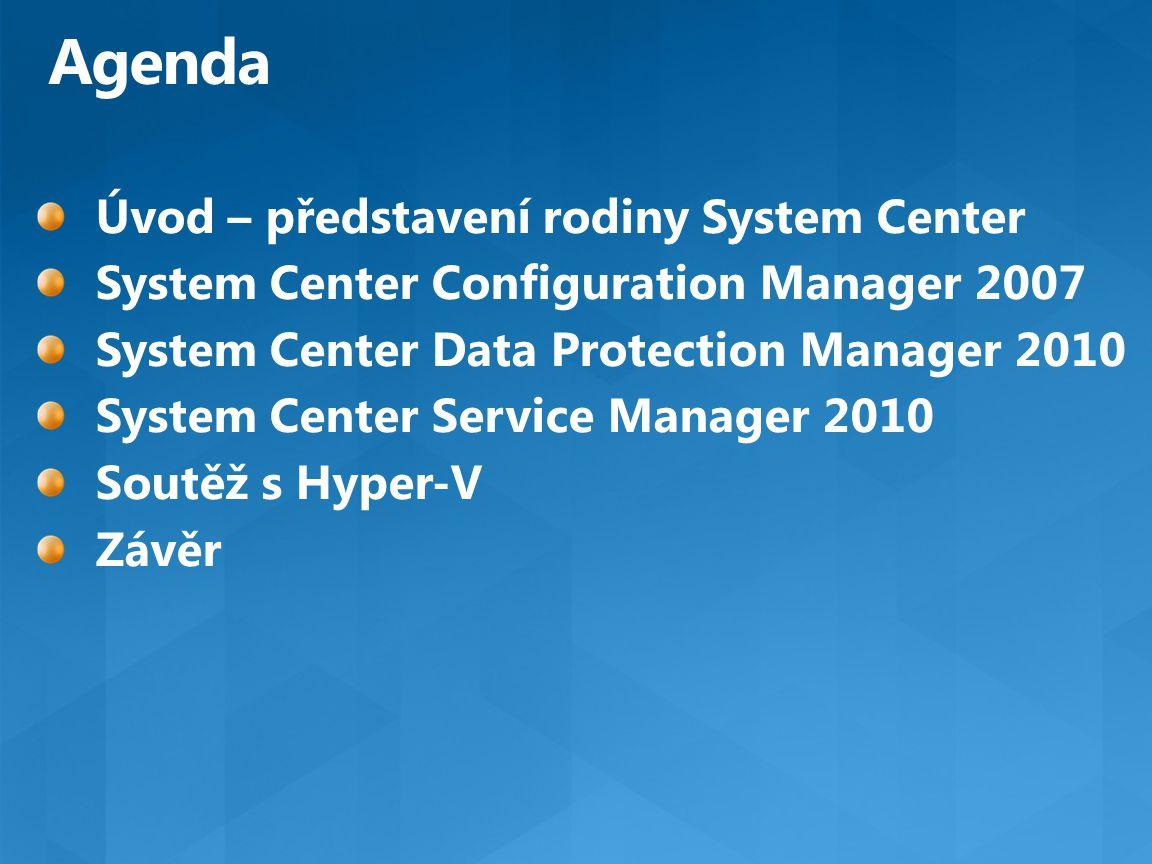 Integrace přes System Center Ukázka výkonu Identifikace oblastí pro zlepšení služeb Databáze pro ukládání dat SCSM Modeluje data a vytváří požadované Postaveno nad SQL Reporting services