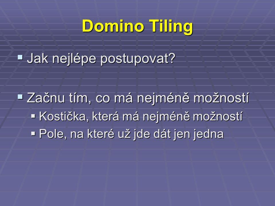 Domino Tiling  Jak nejlépe postupovat.