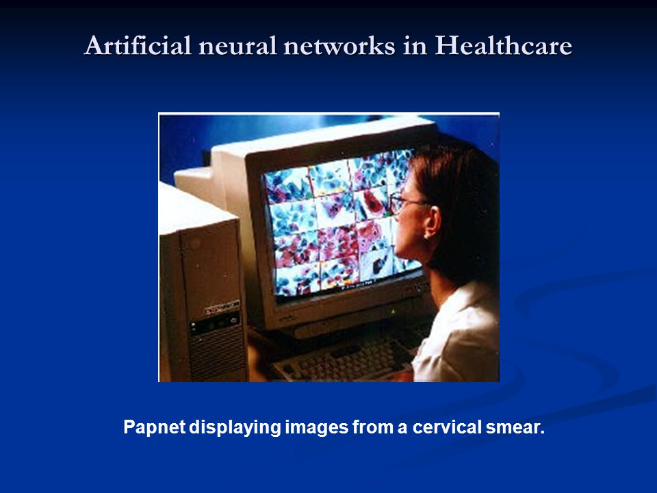 Artificial neural networks in Healthcare Papnet displaying images from a cervical smear.