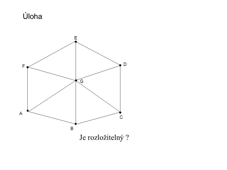 A B C D Úloha Je rozložitelný E F G