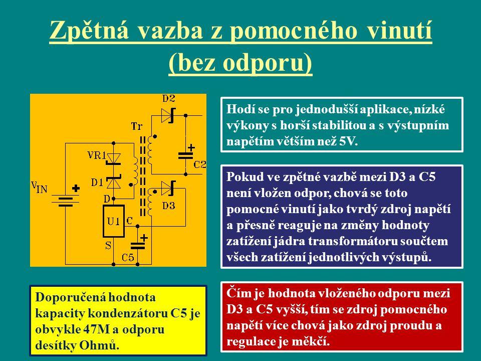Doplňky: a)pojistka, případně termistor pro měkký rozběh a varistor proti přepětí v síti, b)dvojitý obousměrný filtr proti rušení, c)Kelvinovo zapojení vodičů do jednoho bodu, d)odrušovací kondenzátoryC7, C8, C11 spolu s tlumivkou v zemním vodiči.