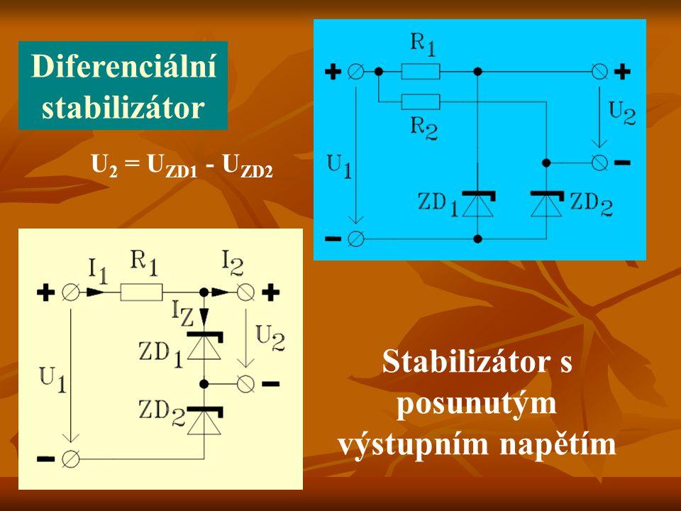 Vše shodné s kladným stabilizátorem, jenom společná zemní svorka je kladná.
