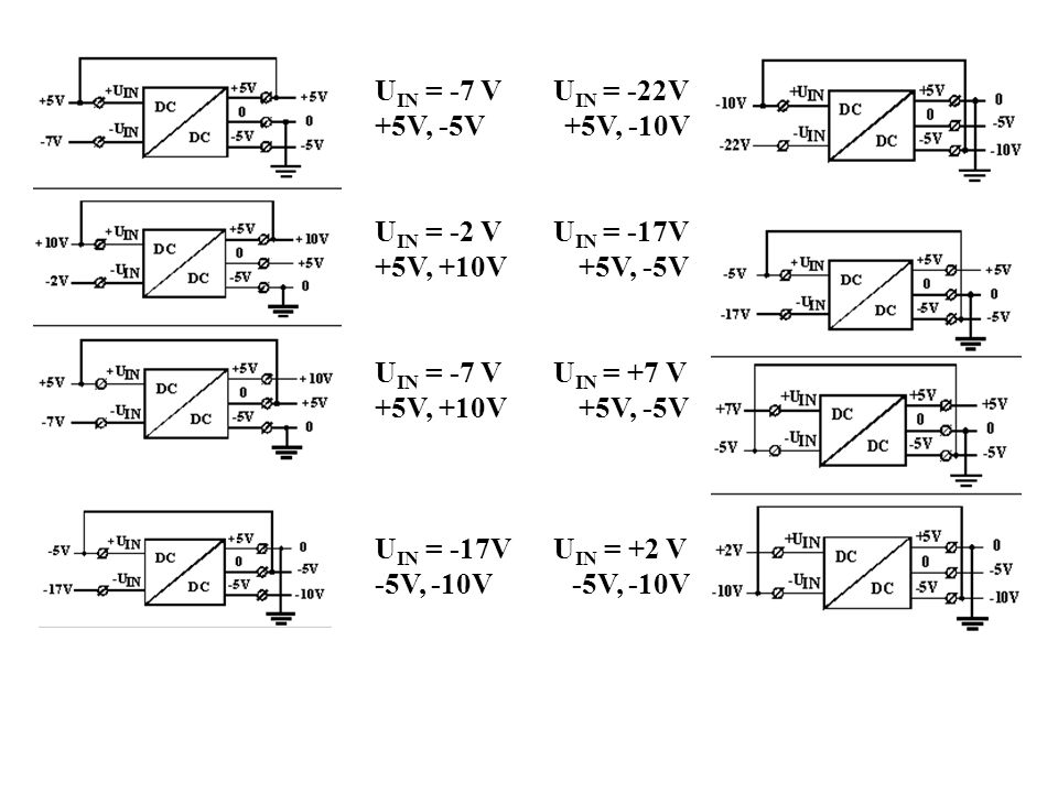 U IN = -7 V U IN = -22V +5V, -5V +5V, -10V U IN = -2 V U IN = -17V +5V, +10V +5V, -5V U IN = -7 V U IN = +7 V +5V, +10V +5V, -5V U IN = -17V U IN = +2