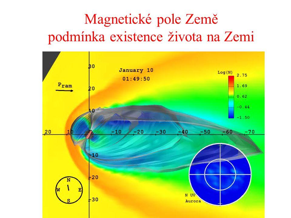 Magnetické pole Země podmínka existence života na Zemi