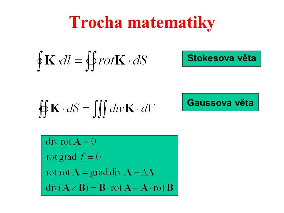  H dl = I=  j dS  rotH dS =  j dS rotH = j Ampérův zákon v diferenciálním tvaru