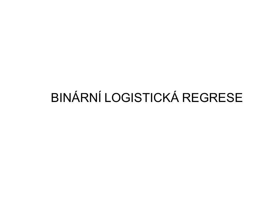 BINÁRNÍ LOGISTICKÁ REGRESE