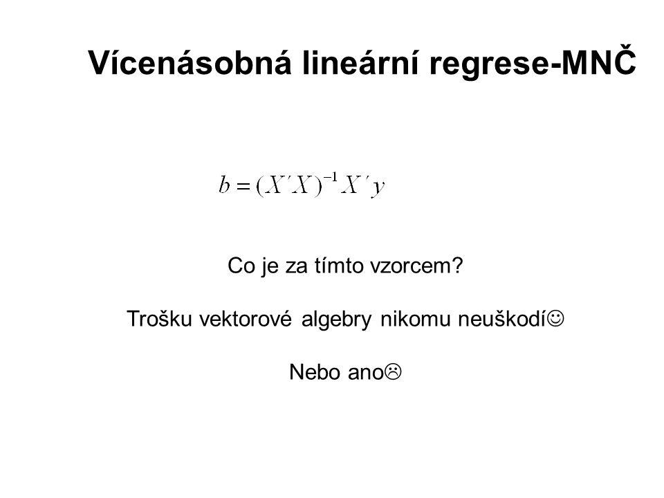 Vícenásobná lineární regrese-MNČ Co je za tímto vzorcem.