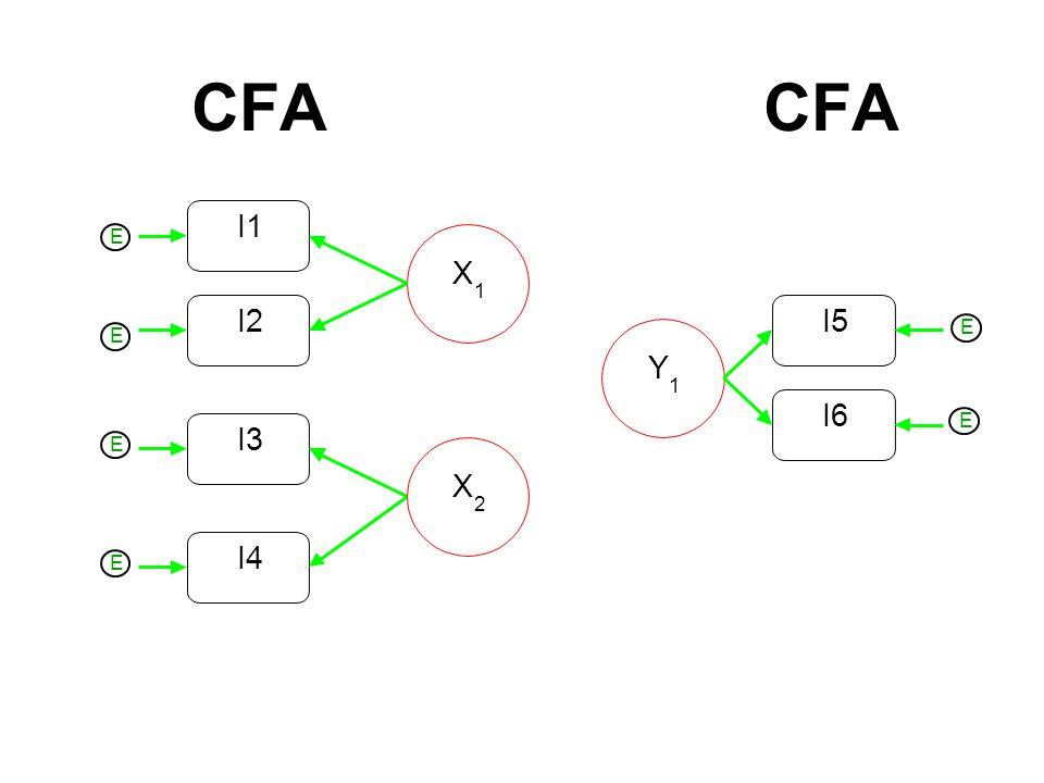 CFA I2 I1 X 1 I3 I4 X 2 Y 1 I6 I5 E E E E E E
