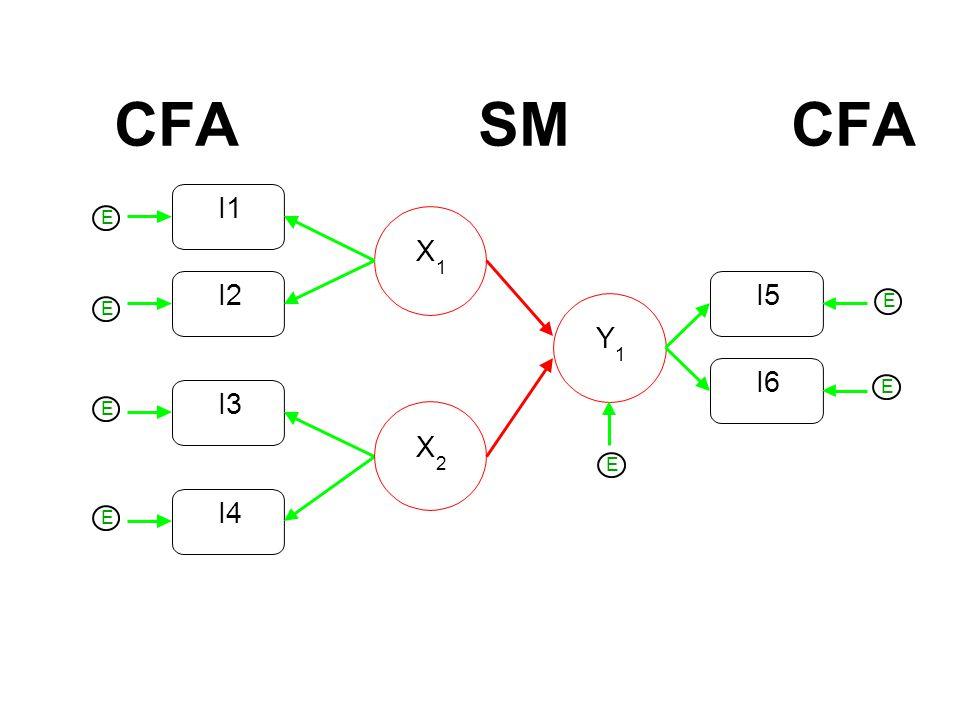 CFA SM CFA I2 I1 X 1 I3 I4 X 2 Y 1 I6 I5 E E E E E E E