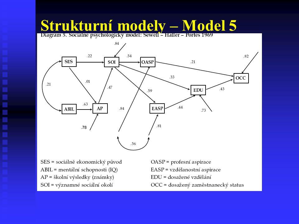 Strukturní modely – Model 5