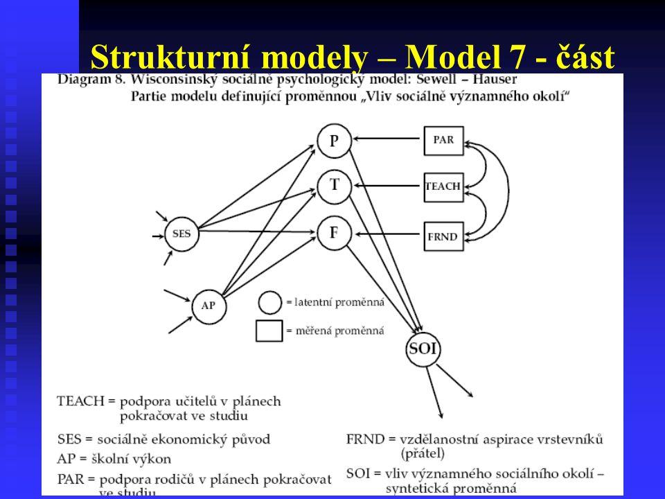 Strukturní modely – Model 7 - část