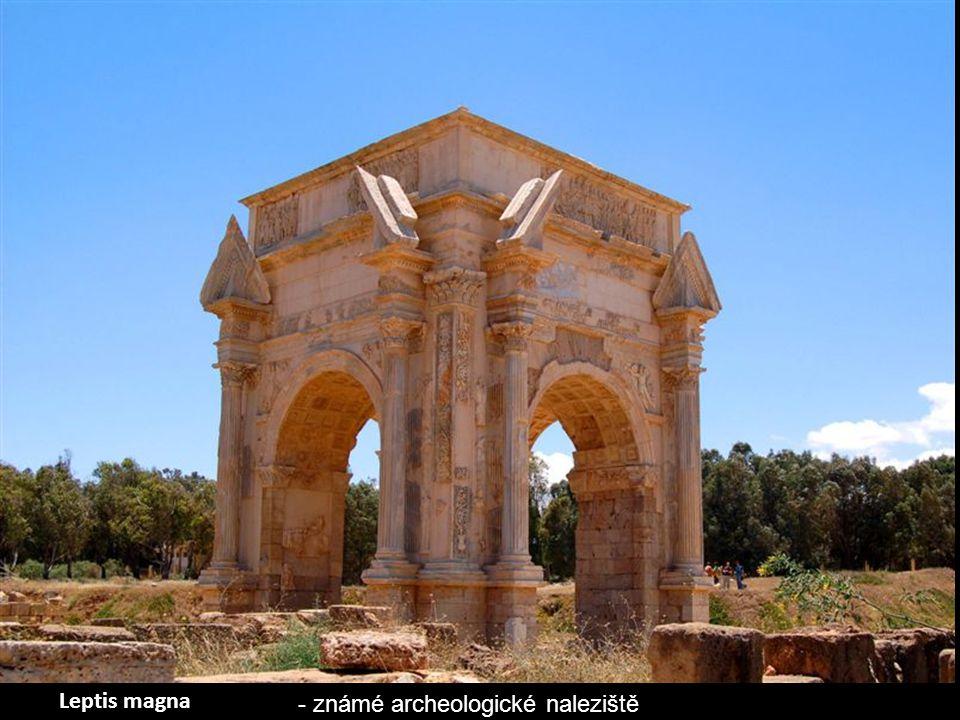 Leptis Magna bylo prominentní město římské říše. Jeho ruiny se nacházejí v Al Khums, 130 km východně od Tripolisu.