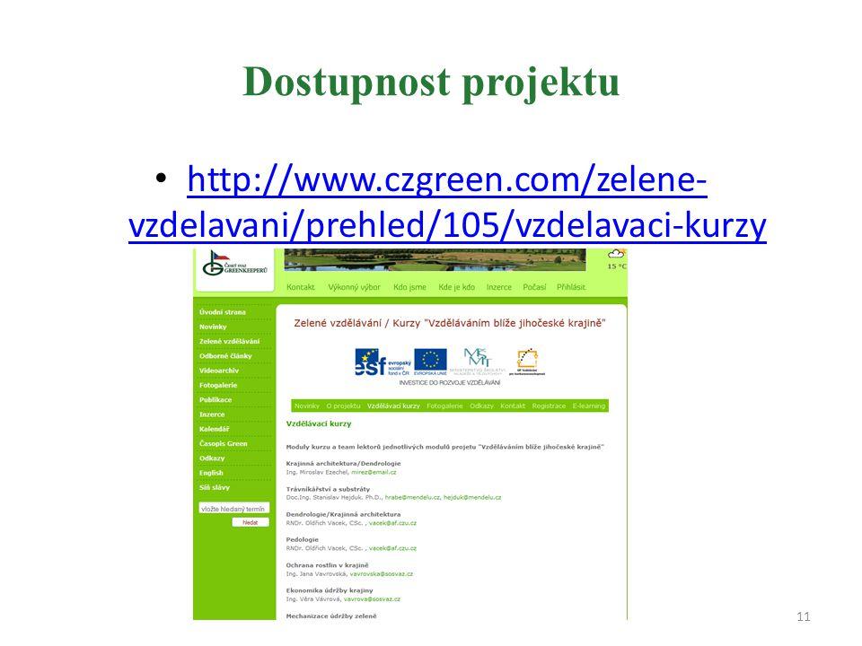 Dostupnost projektu http://www.czgreen.com/zelene- vzdelavani/prehled/105/vzdelavaci-kurzy http://www.czgreen.com/zelene- vzdelavani/prehled/105/vzdelavaci-kurzy 11