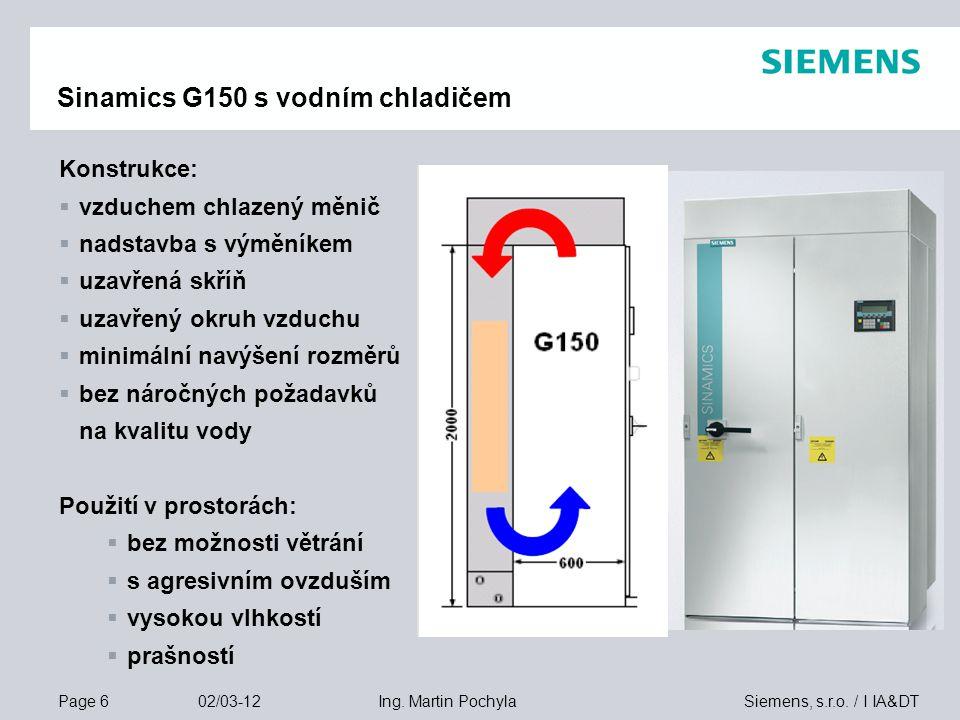 Page 17 02/03-12 Siemens, s.r.o./ I IA&DTIng.