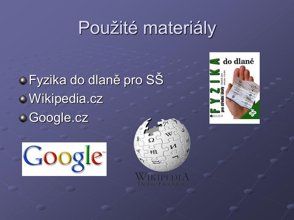 Použité materiály Fyzika do dlaně pro SŠ Wikipedia.czGoogle.cz