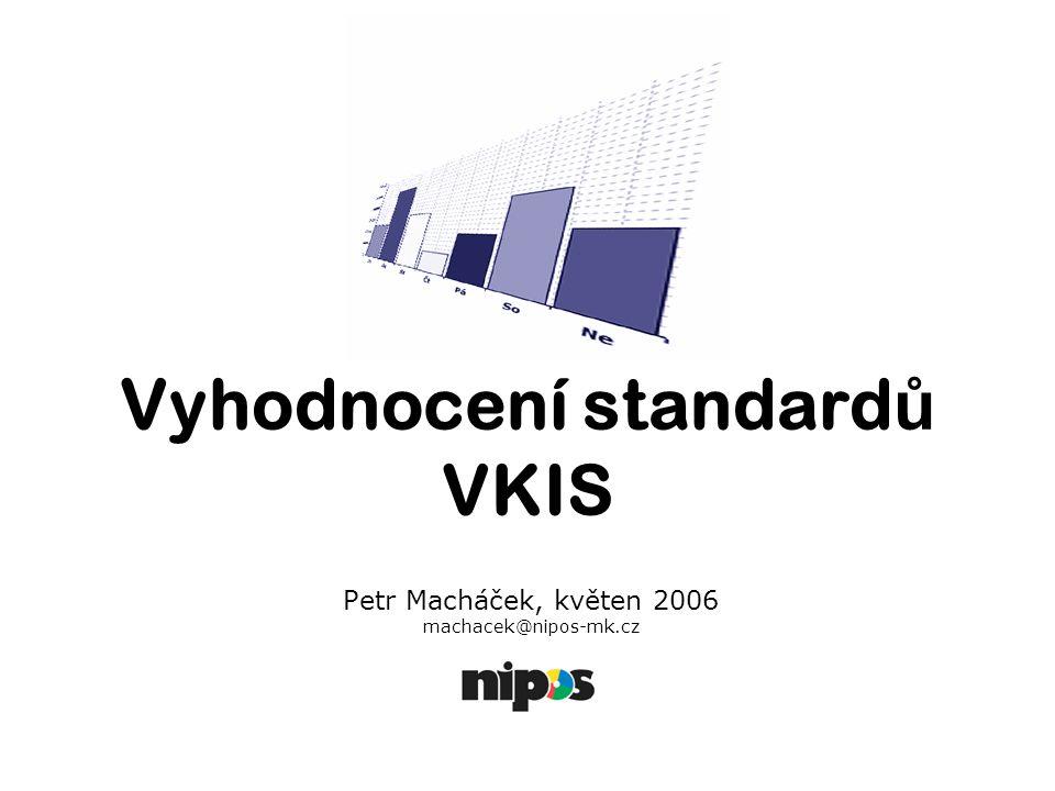 Cíl: Internetová aplikace umožňující porovnání a vyhodnocení standardů veřejných knihovnických a informačních služeb na území ČR a to v rámci celé ČR nebo jednotlivých krajů.
