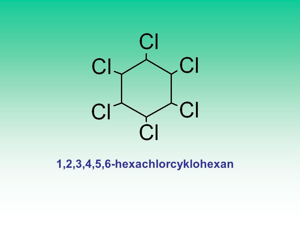 VÝZNAMNÉ SLOUČENINY DDT (DichlorDifenylTrichlorethan) 1,1,1-trichlor-2,2-bis(4-chlorfenyl)ethan PCB POLYCHLOROVANÉ BIFENYLY