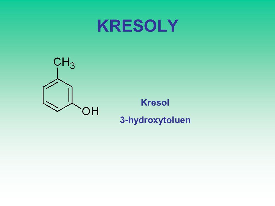 KRESOLY Kresol 3-hydroxytoluen
