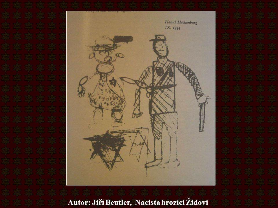 Autor: Jiří Beutler, Nacista hrozící Židovi
