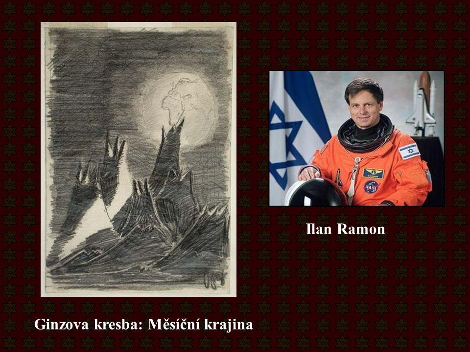 Ginzova kresba: Měsíční krajina Ilan Ramon