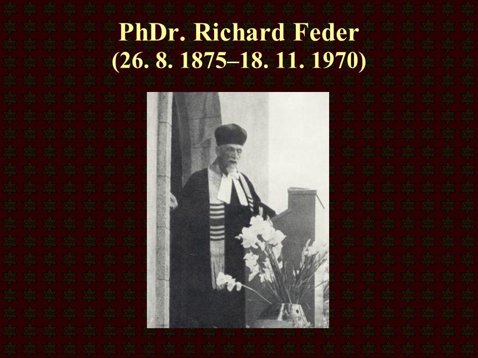 PhDr. Richard Feder (26. 8. 1875–18. 11. 1970)