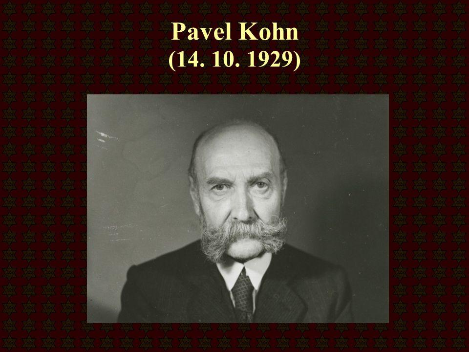 Pavel Kohn (14. 10. 1929)