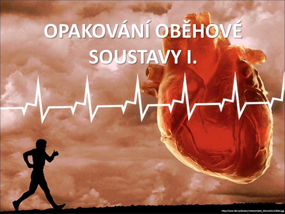 OPAKOVÁNÍ OBĚHOVÉ SOUSTAVY I. http://www.i60.cz/obrazky/velke/srdce4_201212011219063.jpg