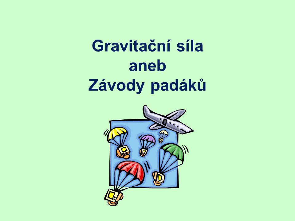Gravitační síla aneb Závody padáků