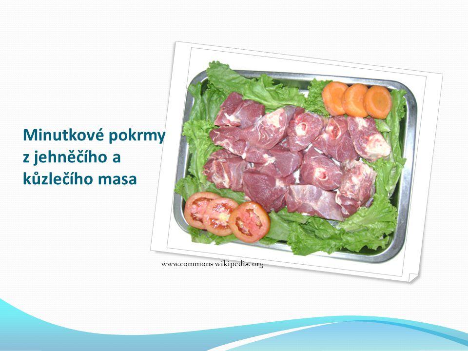 Minutkové pokrmy z jehněčího a kůzlečího masa www.commons wikipedia. org